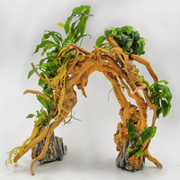 Driftwood Aquarium Landscaping Forest Wood Into Moss Tree Grass Tank stone Potted plant Small Rhododendron root DIY bonsai new
