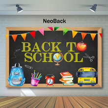 NeoBack Back To School Backdrop Blackboard Bag Pencil Photography Backdrops Party Banner Decor Photo