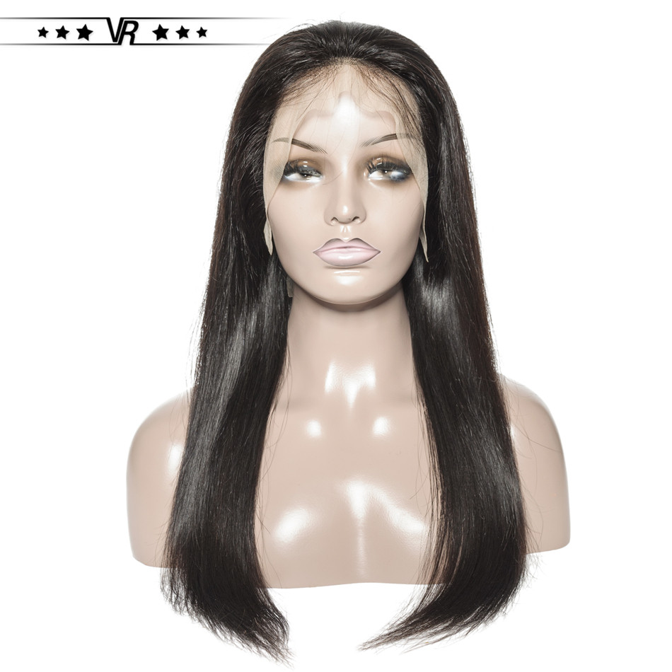 Lace Front Wig 13x4 Brazilian Virgin Human Hair Straight 130% Density Star Quality