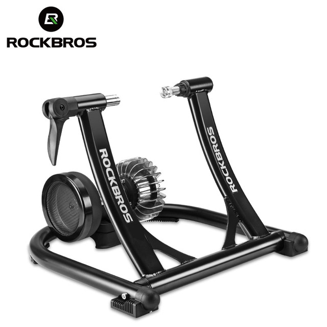 ROCKBROS Bicycle Trainer Roller Indoor Bicycle Exercise Silent Liquid Resistance Bike Trainers Fintness Stand Cycling Parts