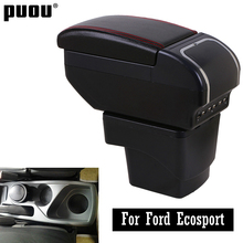 Center Centre Console Storage Box For Ford Ecosport 2013 2018 with cup holder ashtray interior car styling accessories