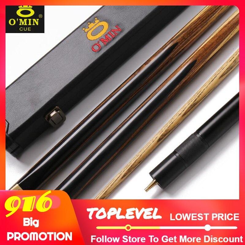 2019 OMIN or épée tout fait à la main une pièce Snooker queue Kit avec étui et Extension 10 mm pointe haut de gamme unique Snooker queue
