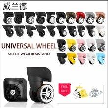 Ruote di ricambio per valigie accessori tirare valigia ruote parti di attrezzature trolley ruote di alta qualità ruota