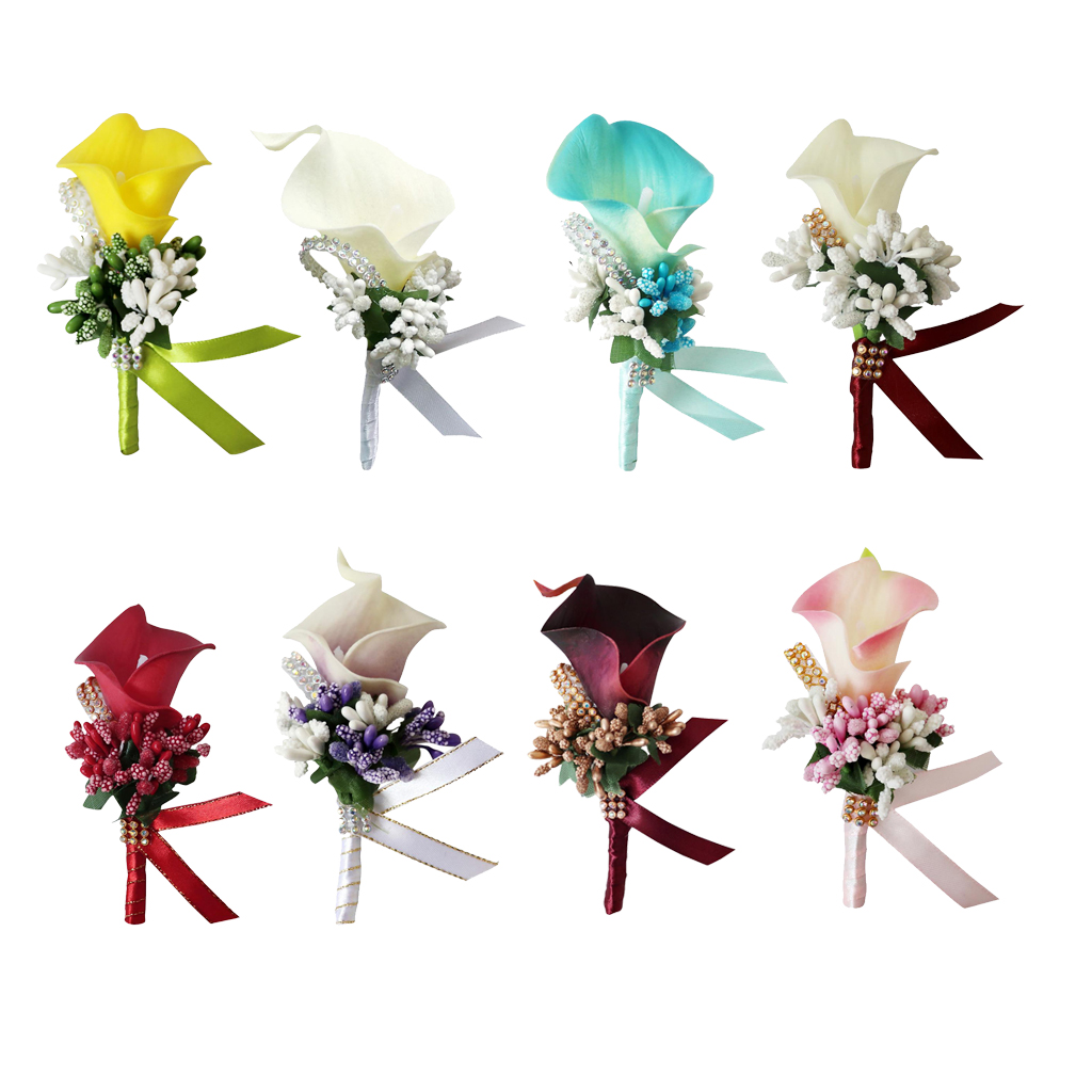 Wedding Prom Corsage Ceremony Flower Brooch Wedding Boutonnieres Groom Groomsmen Flowers Boutonniere