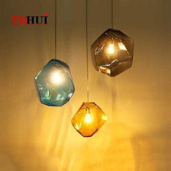 Hong Kong Purchases Modern Simple Individual Glass Small Chandelier Creative Restaurant Colored Glass Bar Art Chandelier Coffee