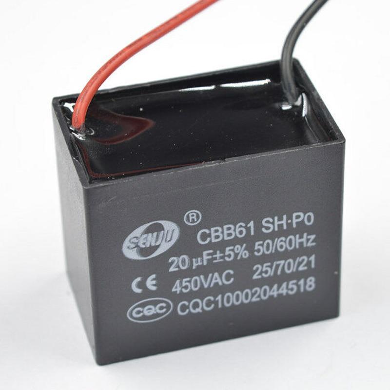10pcs 450VAC CBB61 Appliance Motor Capacitor Capacitance 1uF~20uF Set Accessory