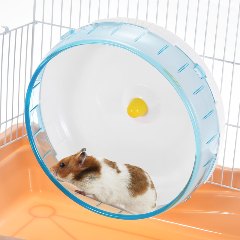 Hamster Running Disc Toy  Silent Rotatory Jogging Wheel Pet Sports Wheel Toys TN99