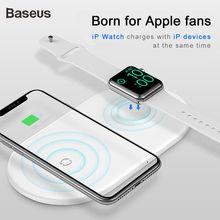 Baseus 2 in 1 Qi Wireless Charger For Apple Watch iPhone XS