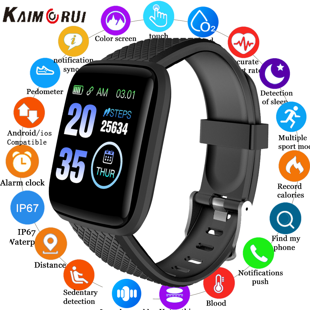 D13 Smart Watches 116 Plus Smart Bracelet Blood Pressure Heart Rate Sports Watches Wristband Men Women Smartwatch фитнес браслет
