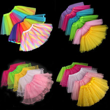 Kids Girls Tutu Skirt Tulle Ballet Dance Skirt Stage Performance Children Dance Wear Party Dress      Halloween Christmas недорого