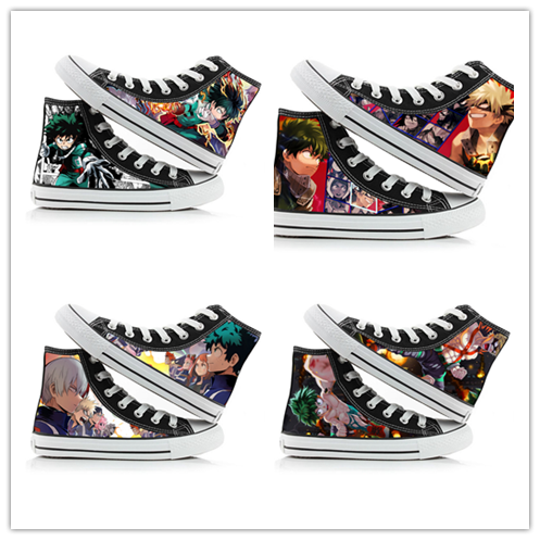 Anime My Hero Academia Shoes Boku No Hero My Hero Academia Cosplay Shoes Izuku Midoriya Bakugou Katsuki Canvas Shoes