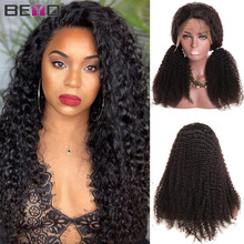 Perucas afro femininas, peruca de cabelo humano encaracolado, com renda frontal, 150 de densidade t