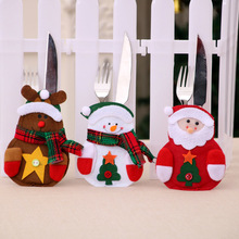 Christmas Fork Spoon Cover Bags Knife Holder Cutlery Bag Tableware Cases Home Storage bag Christmas Decor 1PC Cute Multicolor