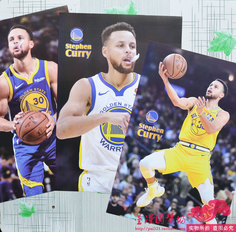 2019 Curry Poster Wall Stickers Bedroom Basketball Large Poster NBA Gladiators Huge Dormitory Curry A Set Of 8