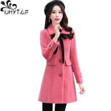 Winter Coat Women Autumn Slim-Quality Plus-Size Mid-Length Casual Single-Breasted 3XL