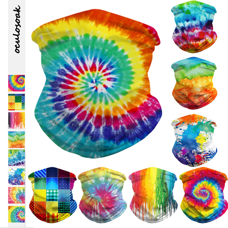 New Tie Dye Digital Printed Insect  Multifunctional Holiday  Magic Turban