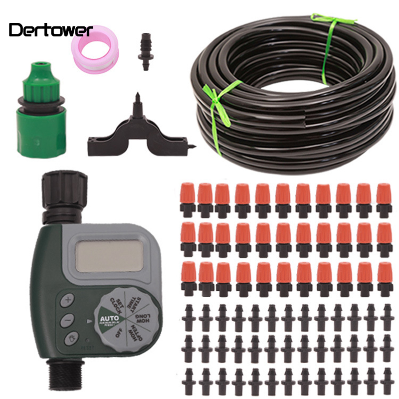 9/12 Pipe Intelligent Irrigation Controller Family Lazy Auto-timer Irrigator Set Atomization Cooling For Home Gardening