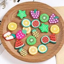1000 шт фруктовые ломтики Fimo амулеты для детей Lizun DIY принадлежности полимерная прозрачная глина посыпает шпатлевка дизайн ногтей ремесло обучающие игрушки