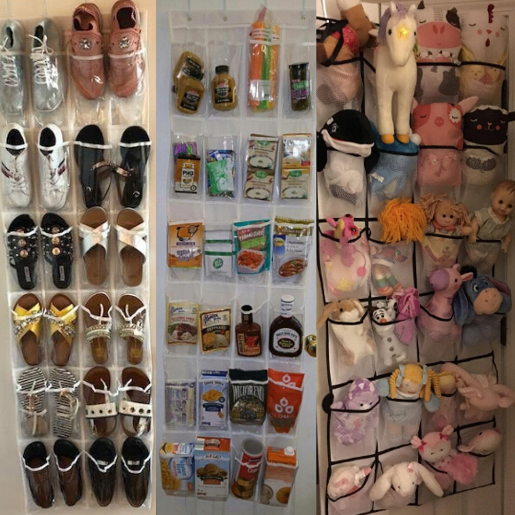 12 to 24 Pockets Shoe Hanger for Door and Closet to Save Extra Space Constructed with Strong Canvas 2