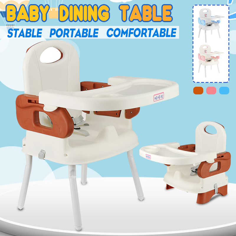 Highchairs Feeding Chair Feeding Seat Kids Highchairs Baby Seat Dinner Table Adjustable Folding Chairs For Children With Strap