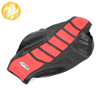 Red Gripper Soft Motorcycle Seat Cover Skin For Honda CR125 CR 125 CR250 CR 250 1997 1998 1999 Rubber/Vinyl New image