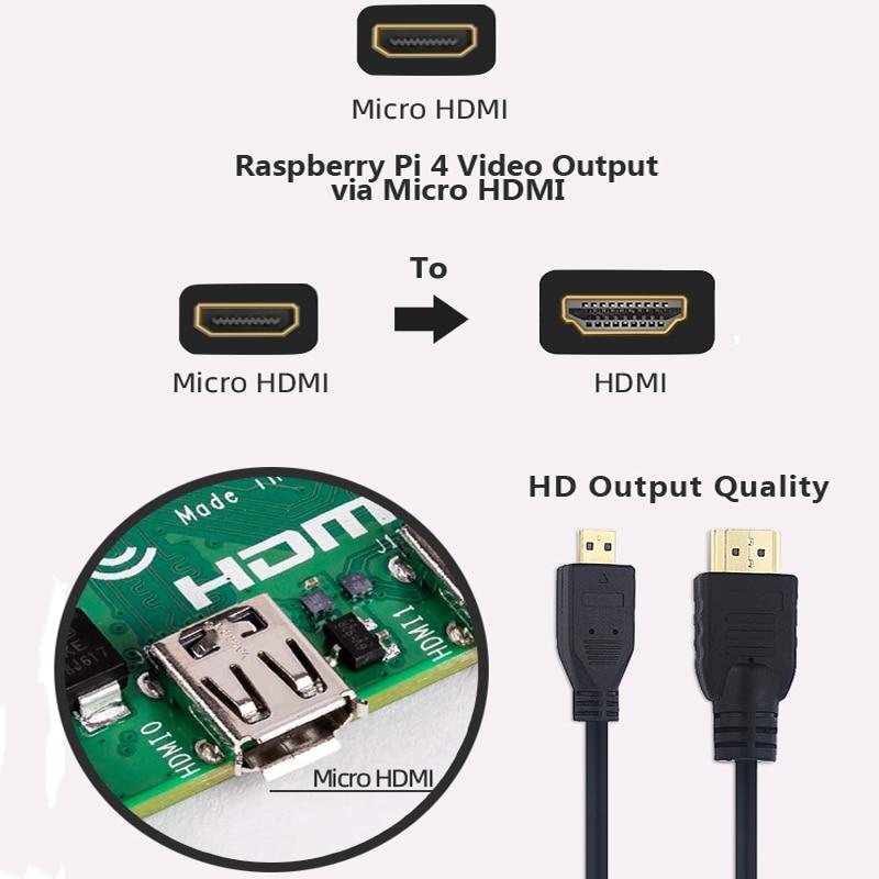 Board Power-Adapter Raspberry Pi Heatsink 4-Model for Sd-Card Case-Box Hdmi-Cable 2GB/4GB-KIT