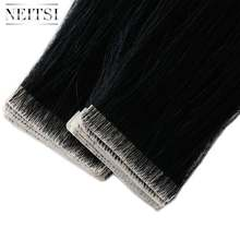 "Neitsi Straight PU Skin Inslag Hand Gebonden Tape In Lijmen Remy Human Hair Extensions 16 ""20"" 24"" 20 pcs/40 pcs FedEx Snelle Verzending(China)"
