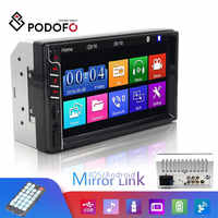 Podofo 2Din Car Radio Car Video Player 7'' MP5 Touch Screen Autoradio Bluetooth Multimedia Player 2 din Cassette Recorder Stereo