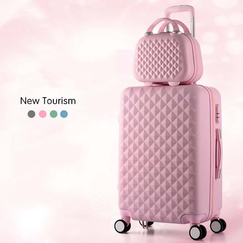 Cartoon Plaid fashion cute female 20/22/24/26/28 inch Rolling Luggage Spinner Brand Suitcase Wheels Carry On Travel Bags|Rolling Luggage| - AliExpress