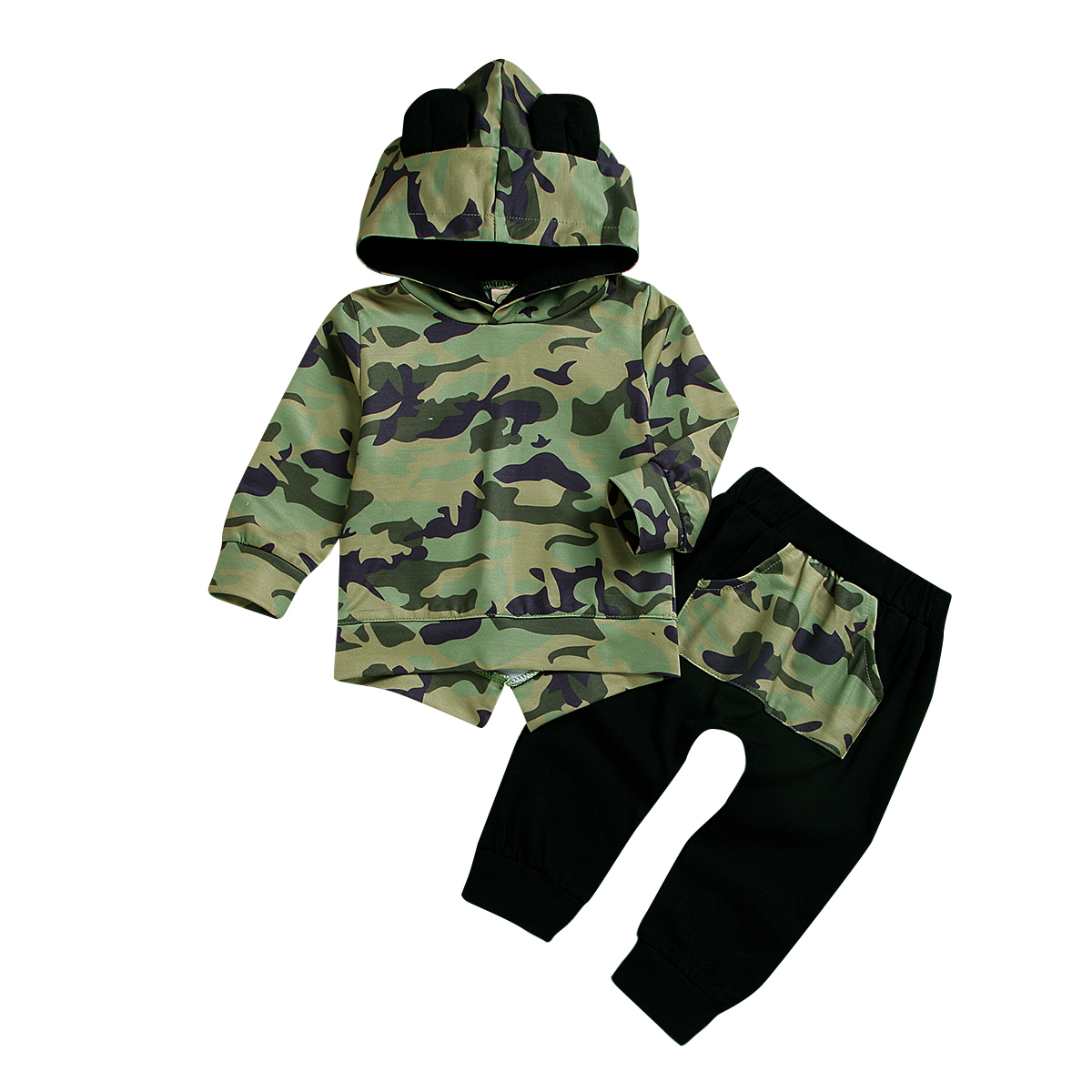 Fall 2019 Toddler Autumn Kids Tracksuit Boys Camouflage Hoodies   Little Boy Fashion Clothes 5t Winter Children Clothes D20