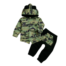 Fall 2019 toddler Autumn Kids tracksuit boys camouflage hoodies  little boy fashion clothes 5t winter children D20