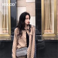 RUGOD 2019 New Autumn Fashion Jean Shirt Cowgirls Streetwear Casual Cool Denim Jacket Long Sleeves Loose Men Jeans Coat