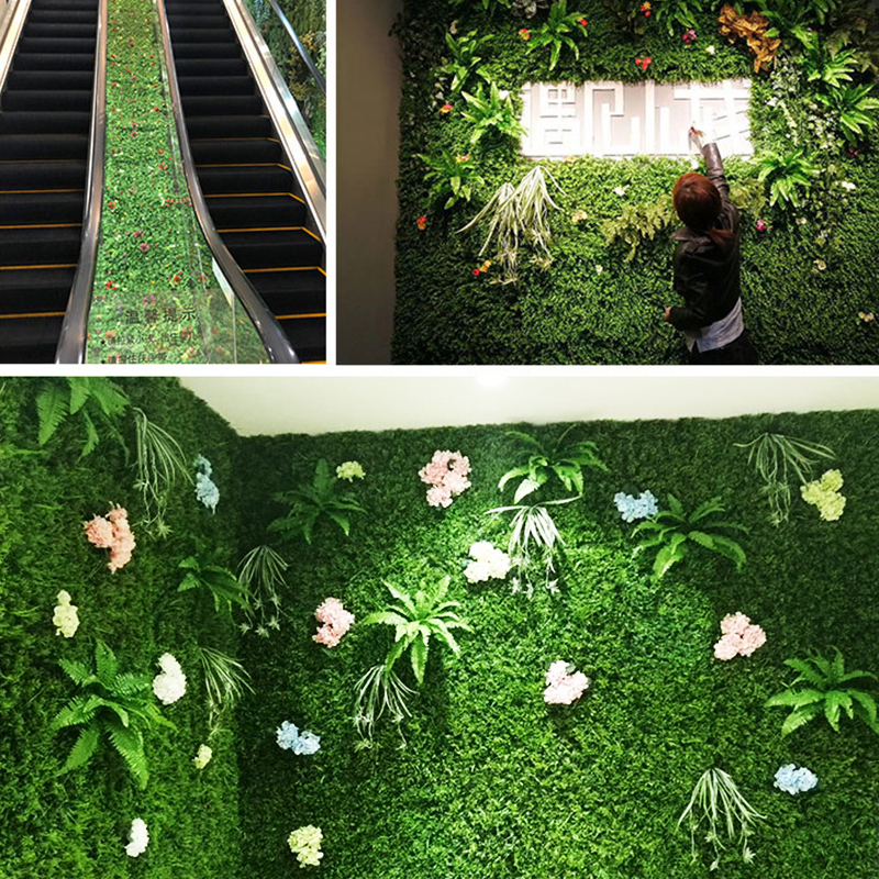 40x60cm Artificial Green Plant Lawns Carpet for Home Garden Wall Landscaping Green Plastic Lawn Door Shop Backdrop Image Grass-4