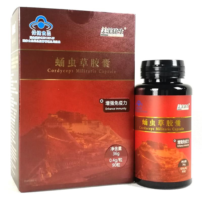 Wild Aweto Cordyceps Sinensis Mycelium Cordyceps Militaris Extract Capsules Anti Fatigue Cleaner Lung
