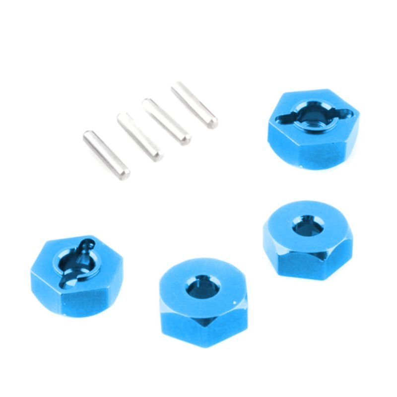4pcs 12mm Aluminum Wheel Hex Hubs Drive Nut With Pins 4p HSP 102042 1/10 Upgrade Parts For 4WD Himoto RC Car 203E