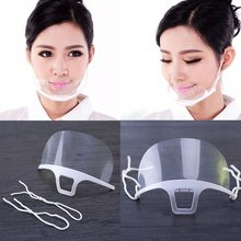 Máscaras transparentes permanente anti nevoeiro catering alimentos hotel plástico cozinha restaurante máscaras ferramentas de cozinha
