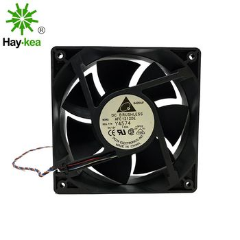 Original for Delta AFC1212DE PWM 120*120*38mm 12038 12CM DC 12V 1.6A Ball fan thermostat inverter server cooling fan Case cooler new original ebm papst dv4118 2npu dc48v 0 46a 120 120 38mm 12cm ip54 cooling fan typ4118n 6xmv 4 5w typ4118n