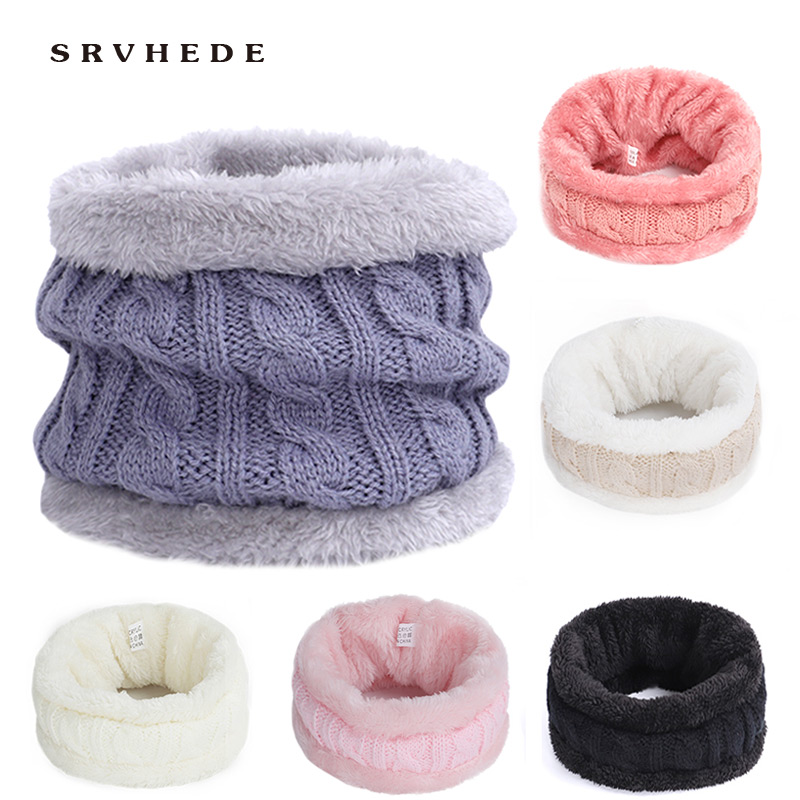 Children's Winter Warm Knit Ring Scarf Twist Thick Super Elastic Knit Scarf Boy Girl Child Neck Warm 2019 New   Ring Scarves
