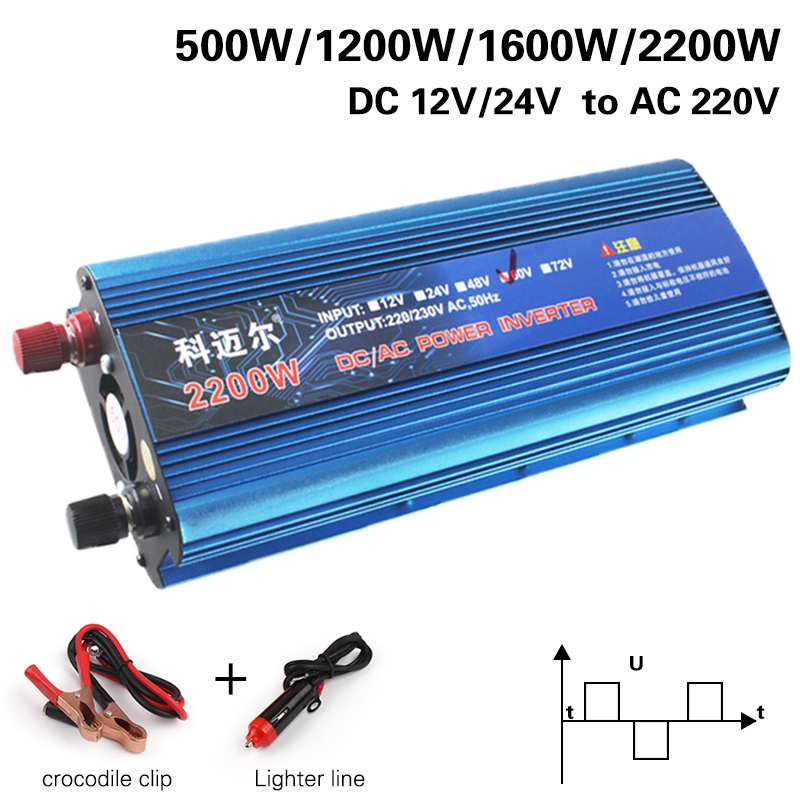 Inverter 12v 220v 2200W Car Inverters Voltage Transformer Car Converter 12 to 220 Solar Inverter Auto Power Inversor Charger image