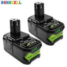 Bonacell Voor Ryobi 6000Mah 18V P108 Li-Ion Oplaadbare Power Tool Batterij Vervanging RB18L40 P107 P104 BIW180 Gereedschap Battreies