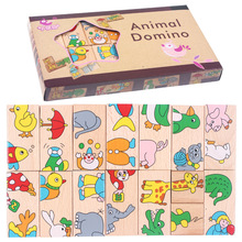 15Pcs Educational Baby Toys Wood Kids Toy Wood Puzzle Wooden 3D Puzzle Jigsaw for Children Baby toys Cartoon Puzzles W100 стоимость