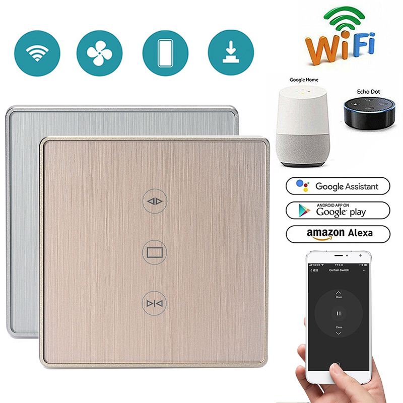 EU WiFi Smart Curtain Switch Smart Life Tuya APP Electric Motorized Curtain Blind Roller Shutter Works With Alexa Google Home