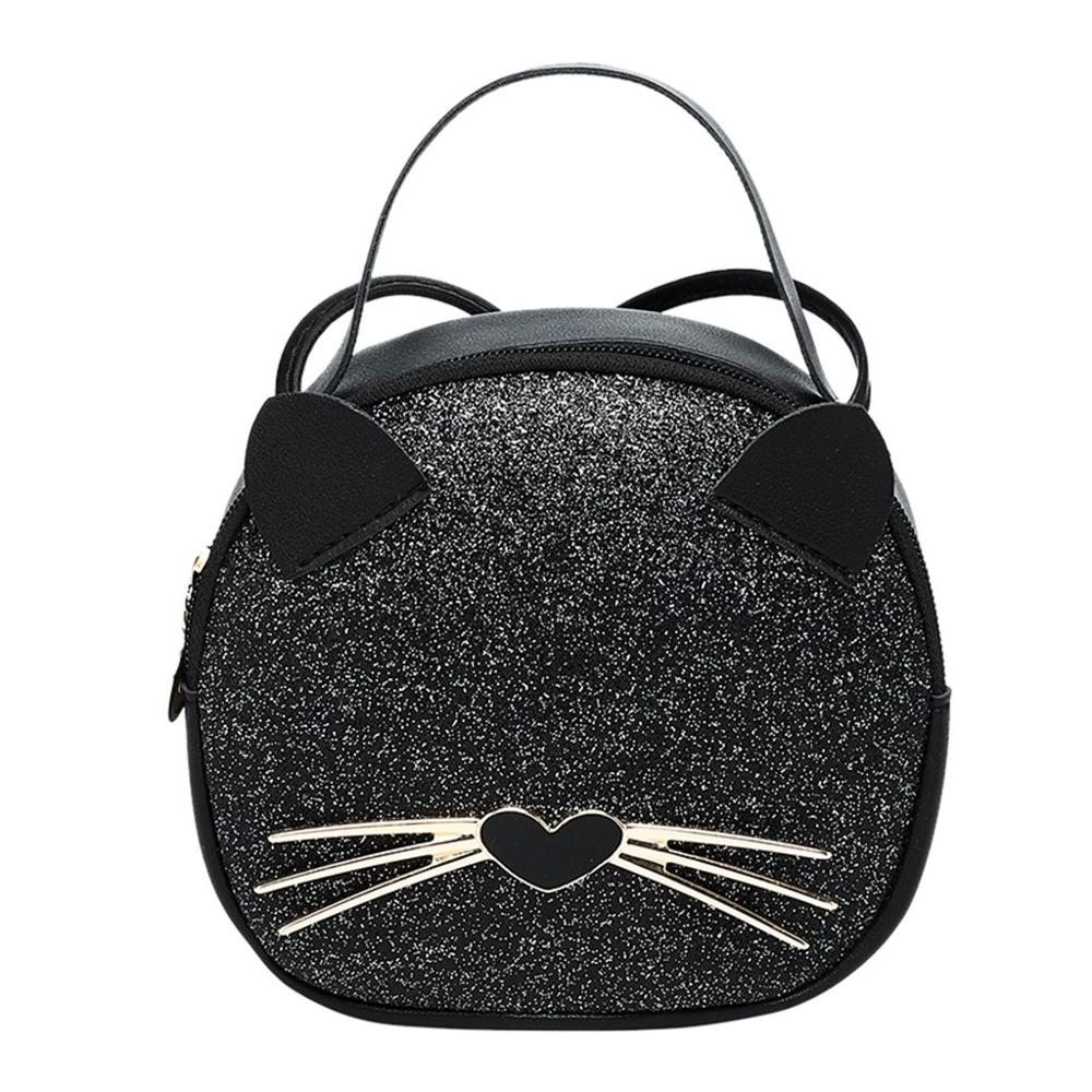 2019 Hot Sale Woman Mini Shoulder Bag PU Leather Cute Cat Ears Handbag Lady Girl Travel Messenger Crossbody Bags Mujer