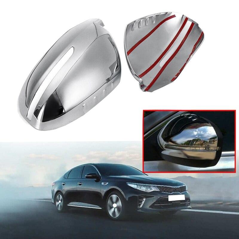 Car Chrome Rearview Mirror Cover for Kia K5 Optima 2011 2012 2013 2014 2015 L8U7