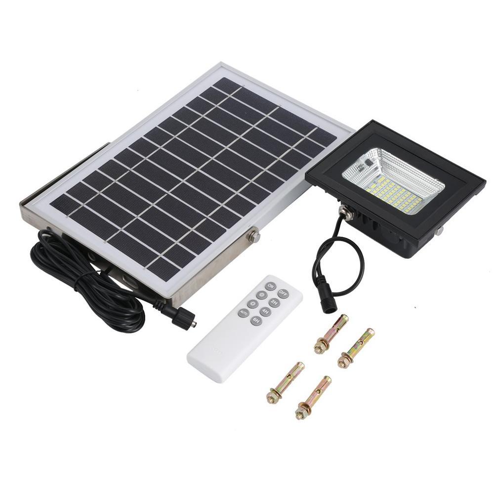Solar Panel Garden LED Light Outdoor Waterproof Solar Panel LED Light Intelligent Stainless Steel Bracket LED Light