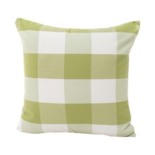 New green plaid striped home sofa cushion covers 45*45cm without inner cotton funda cojin square lattice home pillow covers X75