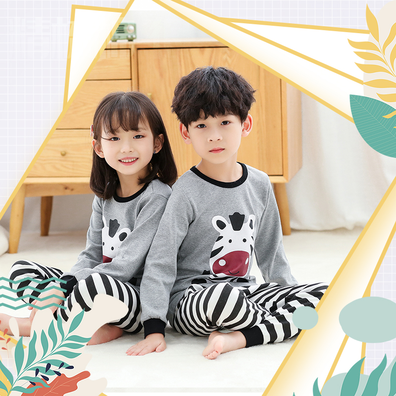 2020 New Children's Clothing Autumn Models Boys And Girls Long Sleeve Children's Underwear Set