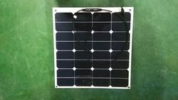 Gold supplier 50W flexible portable foldable sunpower mini solar panel
