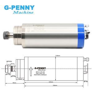 Image 2 - 3.2kw מקורר מים ציר מנוע 4pcs קרמיקה כדור מסבים 3.2kw עץ עבודה ציר & 100mm ציר מחזיק/brakcet