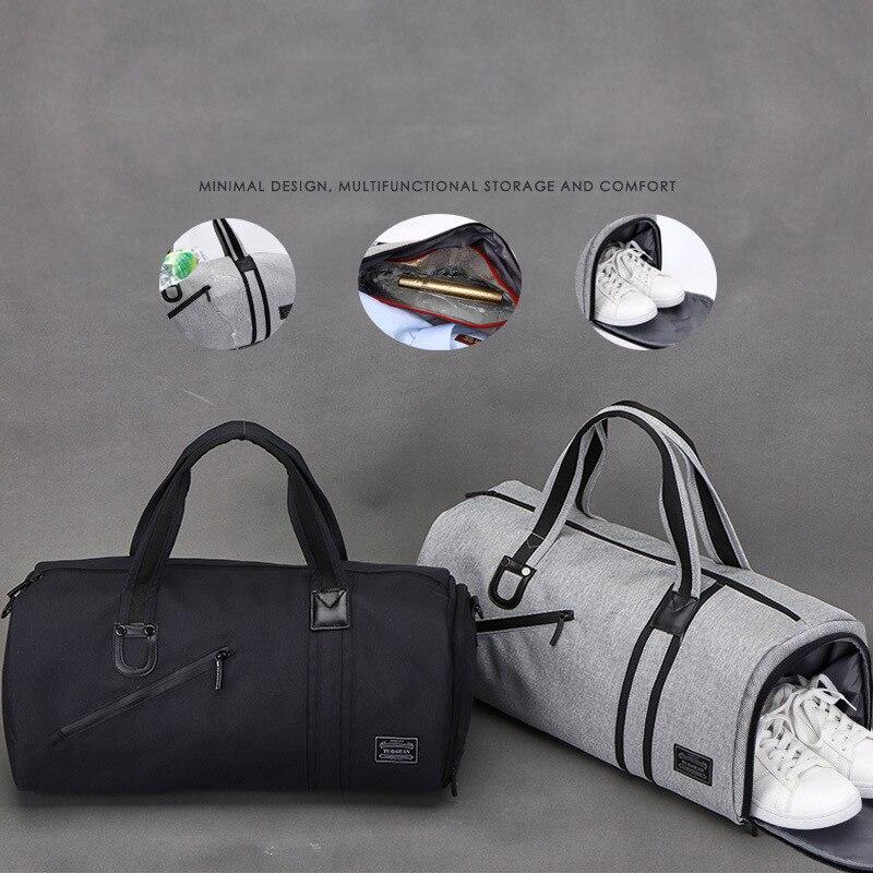 Bolsas de gimnasio multifuncional portátil de gran capacidad para hombres bolsos de viaje de hombro zapatos de almacenamiento al aire libre Fitness Yoga entrenamiento bolso - 3
